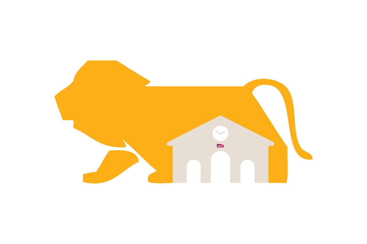 Lion pour la Gare SNCF Perrache